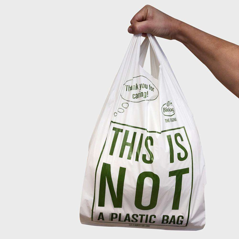 I AM NOT PLASTIC BAGS 100% Biodegradable 100% Compostable Potato Starch EN13432 TUV AVUSTRIA CERTIFICATED FOOD GRADE certified