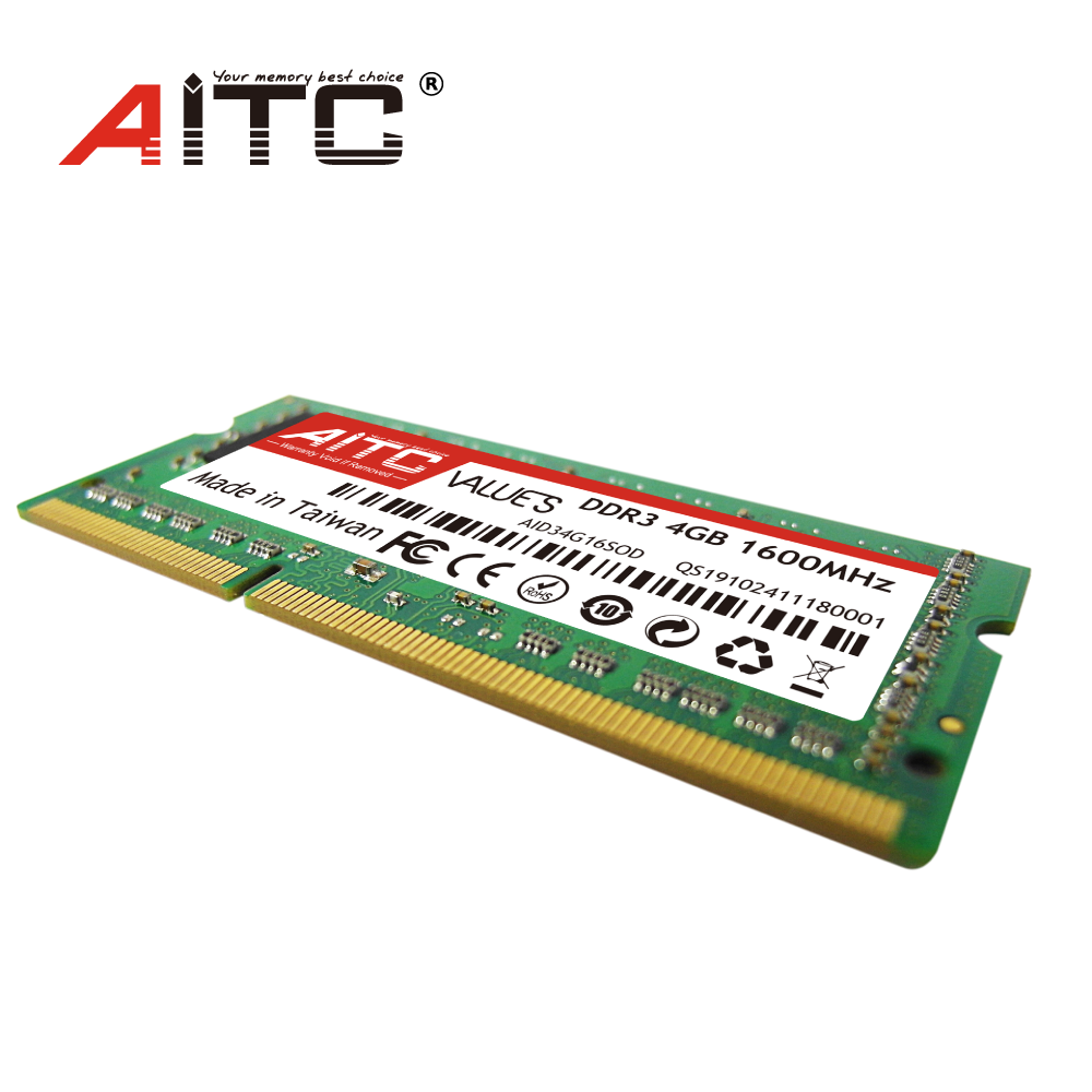 Best selling AITC ram module ddr3 4gb 1600 4gb ram laptop ddr3 memory