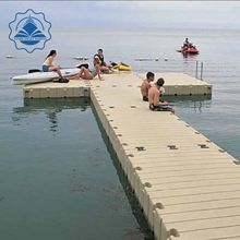 New style modular hdpe plastic floating pontoon for floating yacht dock white or gery colour make in China
