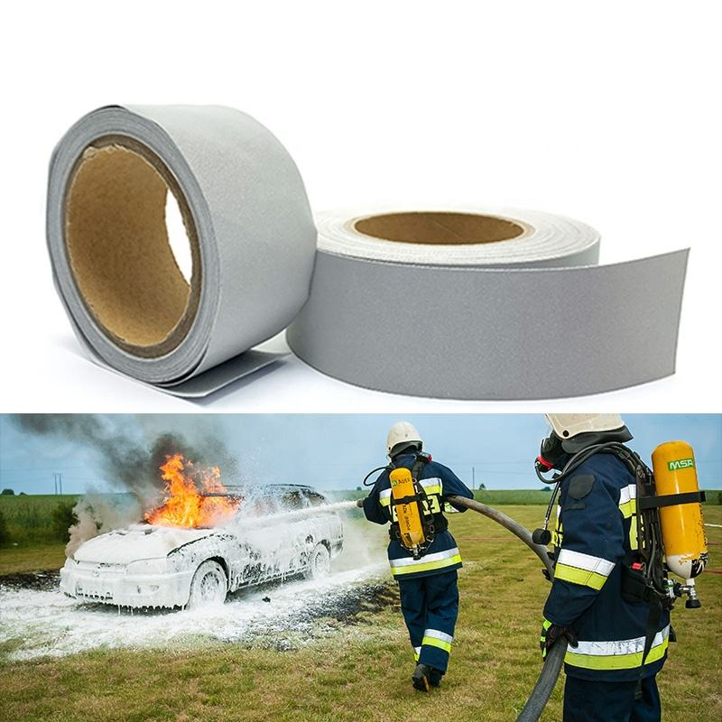 NFPA Fire Resistant retro Reflective Fabric Tape Sew on firefighter garment
