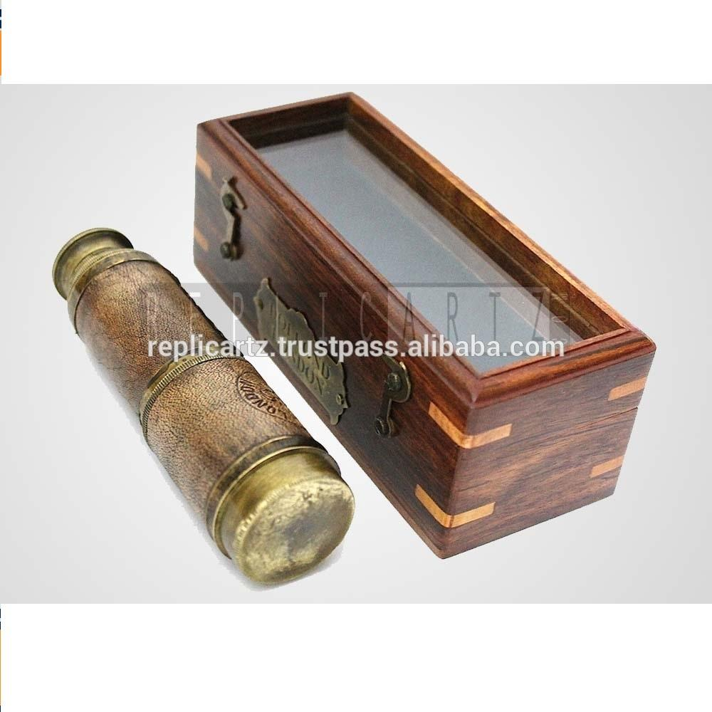 Brass Vintage Marine Telescope Gift Item Antique Maritime With wooden box