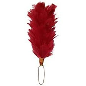 """12/"""" Hackle plume for Hat//Cap White with Red Tip glengarry,Balmoral,shako,"""