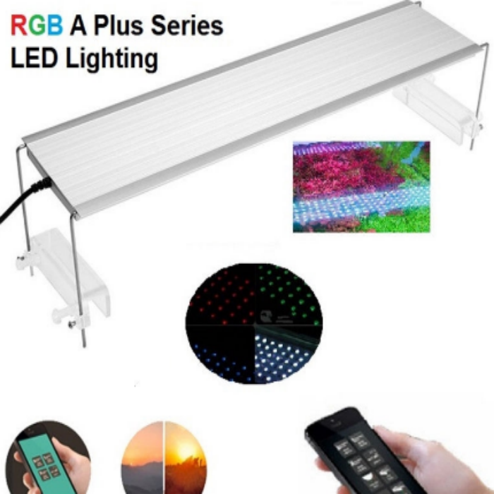 RGB A Plus Series with Built in Bluetooth Controller 3 in 1 RGB LED Sunrise Sunset Plant Grow Aquarium Lamp Light