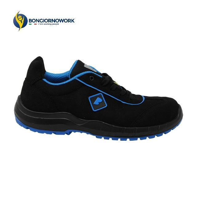 MADE IN ITALY BLACK BLUE WATER RESISTANT NABUK FERRULE GLASS FIBER 200J FOIL NON METALLIC LOW SAFETY SHOES