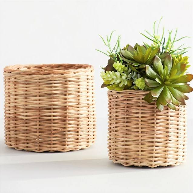 Rattan Flower Plant Garden Pots made in Vietnam