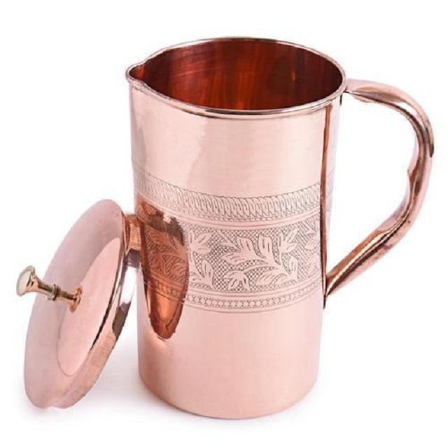 Copper Embossed Design Water Jug