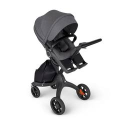 2020 Baby Discounts - Stokkes Xplorys 6 Black Chassis Stroller with Black Handle - Black Melange - With Warranty