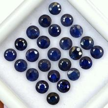 Natural Precious Blue Sapphire Round Gemstones Wholesale Loose Stones For Jewelry Making Factory Price