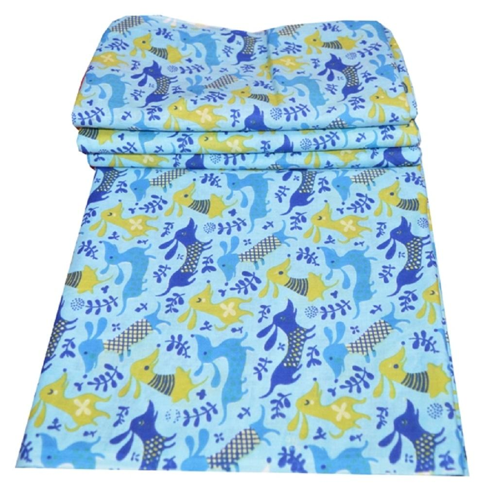 Indian Wholesale Screen Printing Cotton Fabric Textile For Baby Cloth Jaipur Handmade Animal Print Running Fabric Dress Making