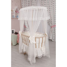 Baby Wooden Crib Infant Bed With Mosquito Net Up To 12 Month Baby Bed