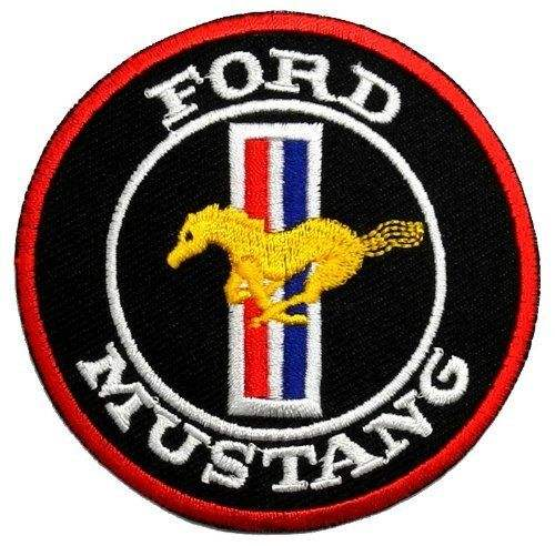 Customized ford mustang Embroidered Patch Badge Custom Embroidery Patch