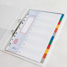 Multi Colour Index Divider 0.14mm Color PP Tab 12 part Easy Filing