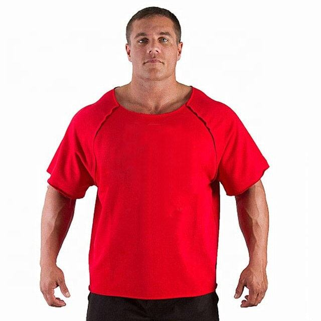 Men's T Shirts Fitness Men Bodybuilding Gorilla Wear Shirt Powerlifting Rag top Sleeve Round neck Tops Male Loose Tanks Shirt