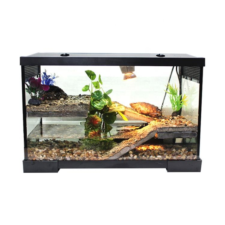 Kit tanque do <span class=keywords><strong>aquário</strong></span> da tartaruga com composto de filtro do tanque de tartaruga e Tartaruga lâmpadas e peixe policultura tanque