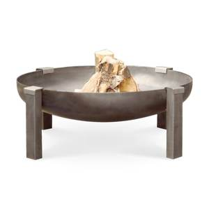 Outdoor BBQ Corten Steel Ball Wood Burning Fire Pit Bowl