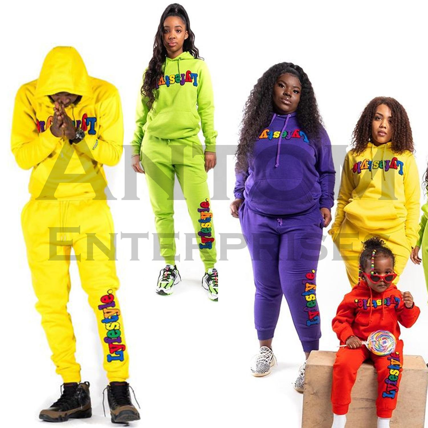 brand tracksuits/High Quality Joggers/2 Piece Set Women Tracksuit/Unisex Hood Joggers Suits Set