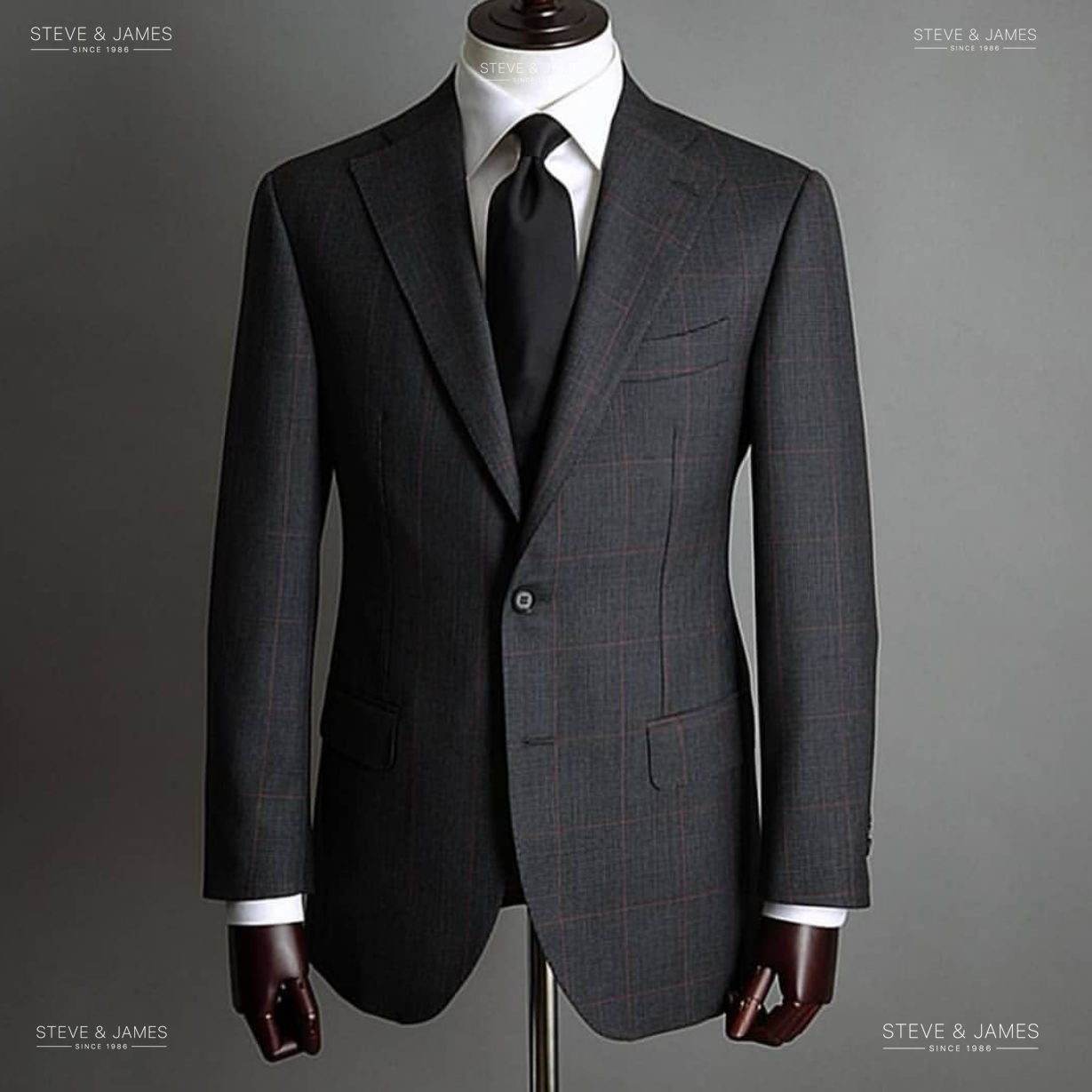 Gentlemen British Slim Fit Suit Men's Tailored Custom Business Formal Style