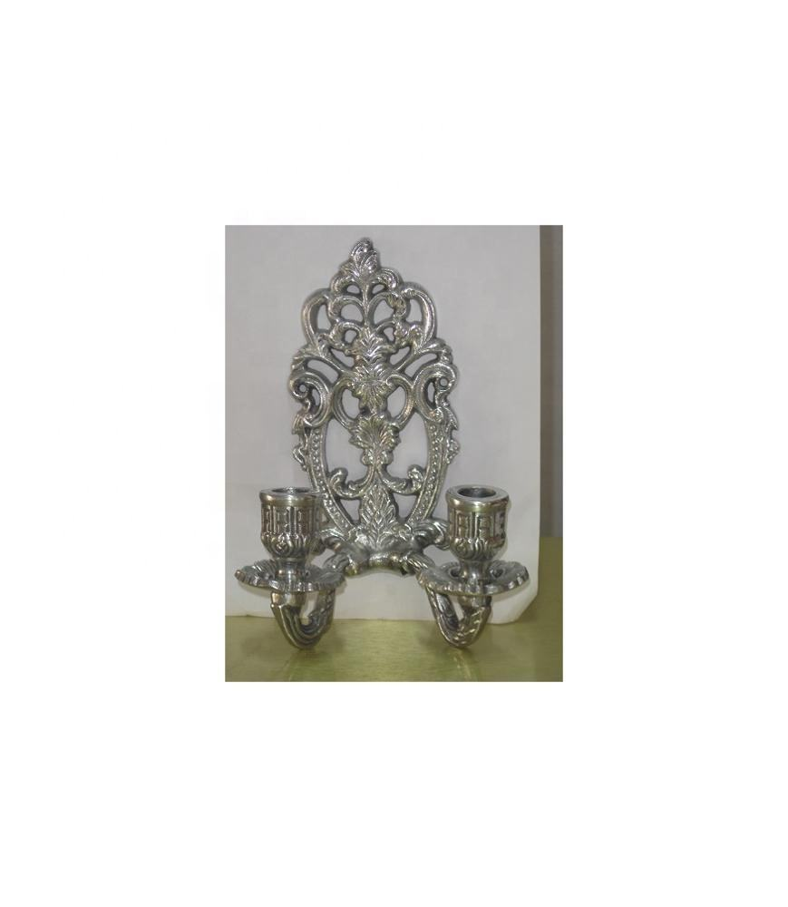 Aluminium Embossed 2 lights Wall sconce candle holder wall decor fine quality hot selling