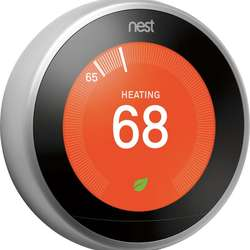 Brand new Nest Learning Thermostat 3rd Gen Stainless Steel 3 Pack (T3007ES) with free shipping  Add to Compar