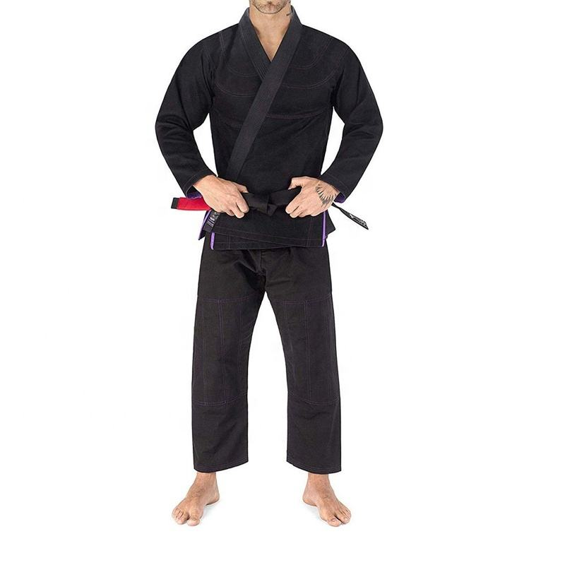 Custom National Patents Cotton Polyester Ijf Approved Blank Color Judo Gi Uniform Jiu Jitsu Gi