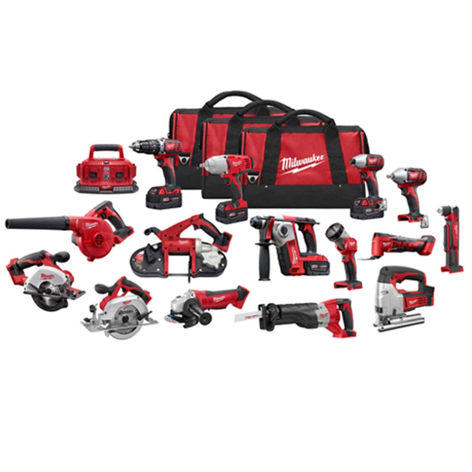 NEWLY ARRIVED MilWauKees 2695-15 M18 18V Cordless Lithium-Ion 15-Tool Combo Kit