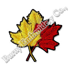 New Gold Leaf Embroidery Pin Bullion Brooch Fashionable Design