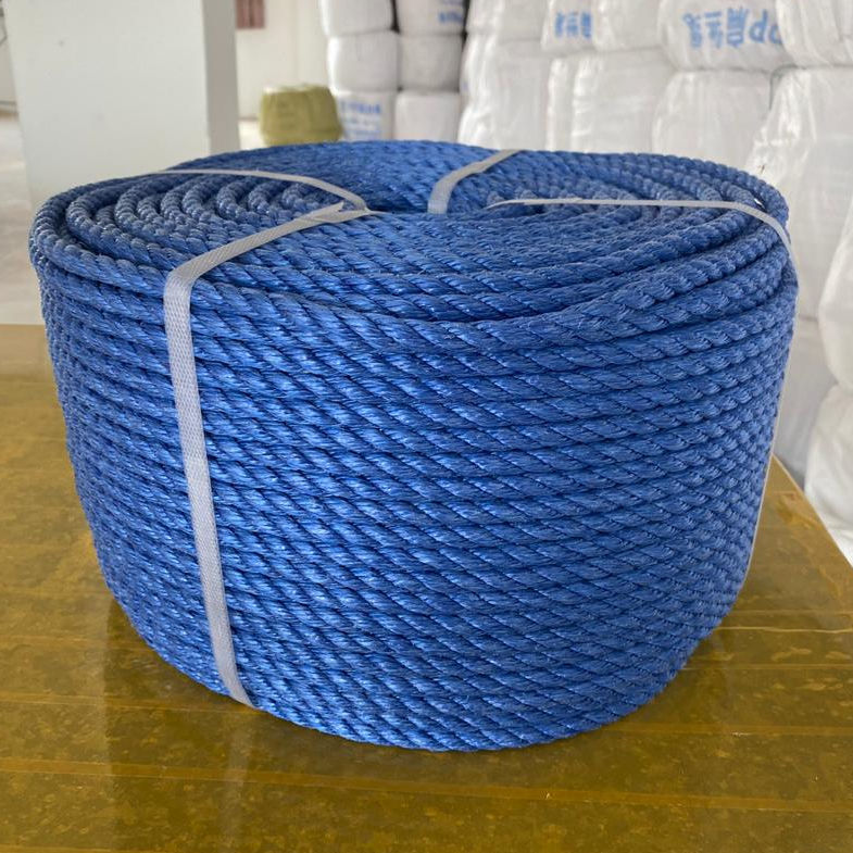 MULTIPACK High quality colored Polypropylene Split Film 3 Strands Twisted Rope from india factory