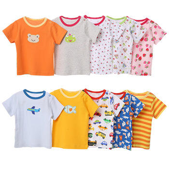 wholesale price heyouj2 baby clothing set 5 pieces cartoon embroidered baby short T-shirt