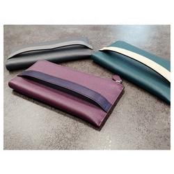 Newest Unisex Leather Wallet Premium Natural Cowhide Purse with Strap Made in Korea Fashion for Men Women
