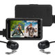 WiFi GPS Motorcycle DVR Dash Cam Full HD 1080P+1080P Front Rear View Waterproof Motorcycle Camera Black Recorder Box