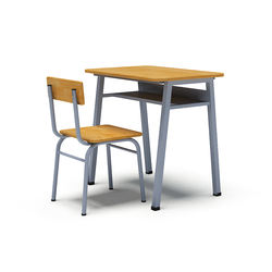 Single student desks and chairs
