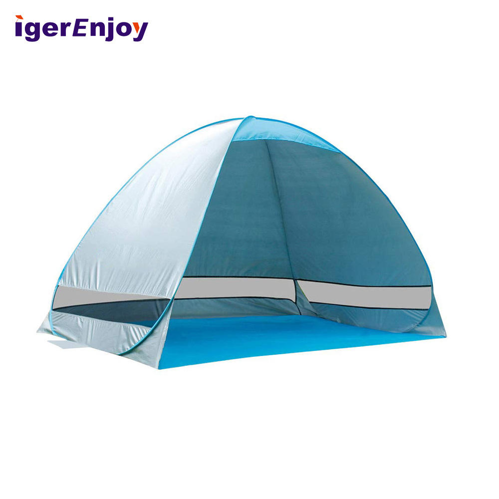 Top Beach Tents Automatic, Portable Beach Cabana Pop Up Beach Tent Sun Shelter