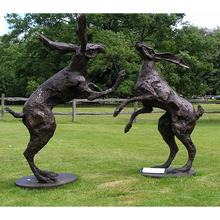 Two big size hear fitting bronze sculpture for garden decoration