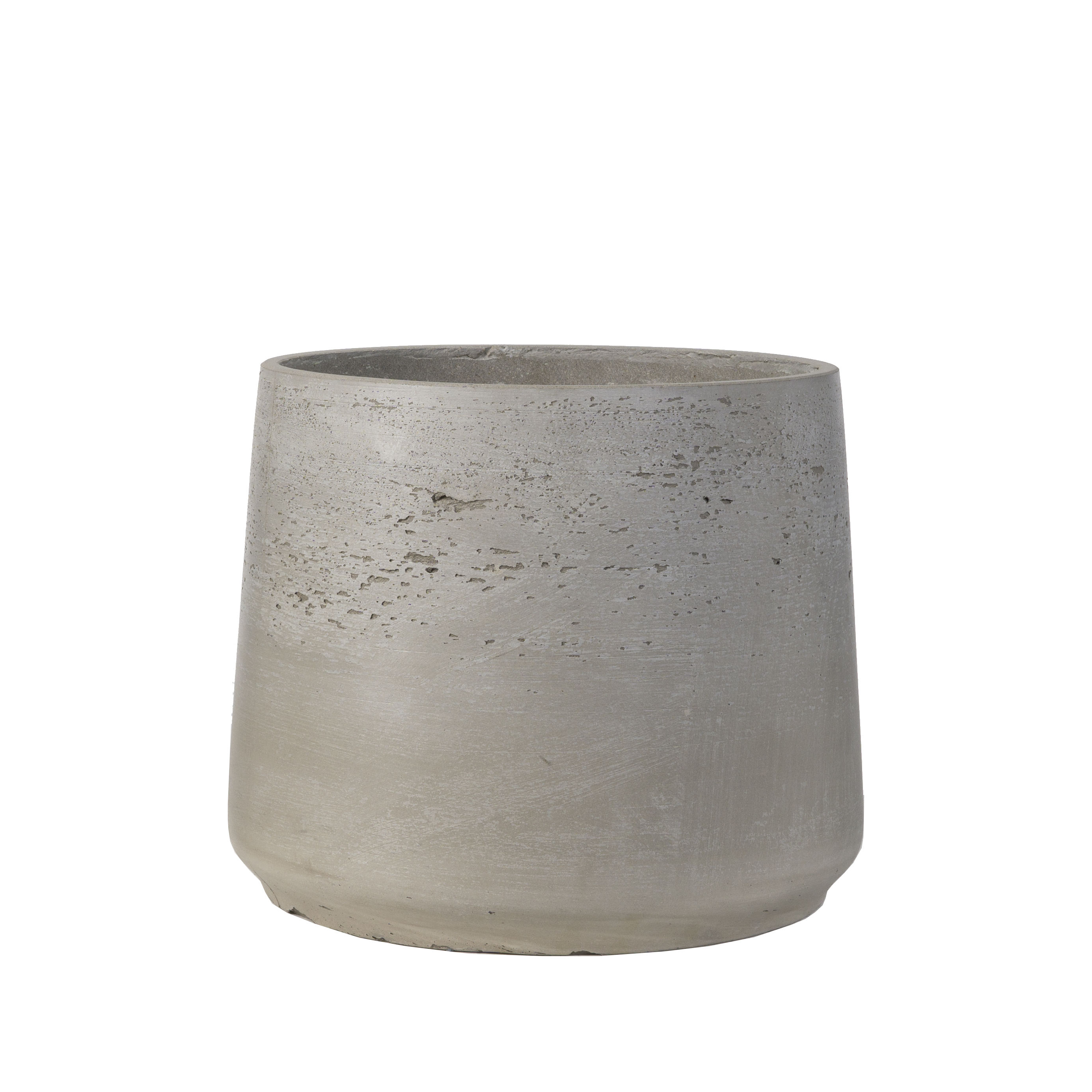 Finished raw cement color concrete flower pot head planter Thailand style with 3 sizes for indoor decorative