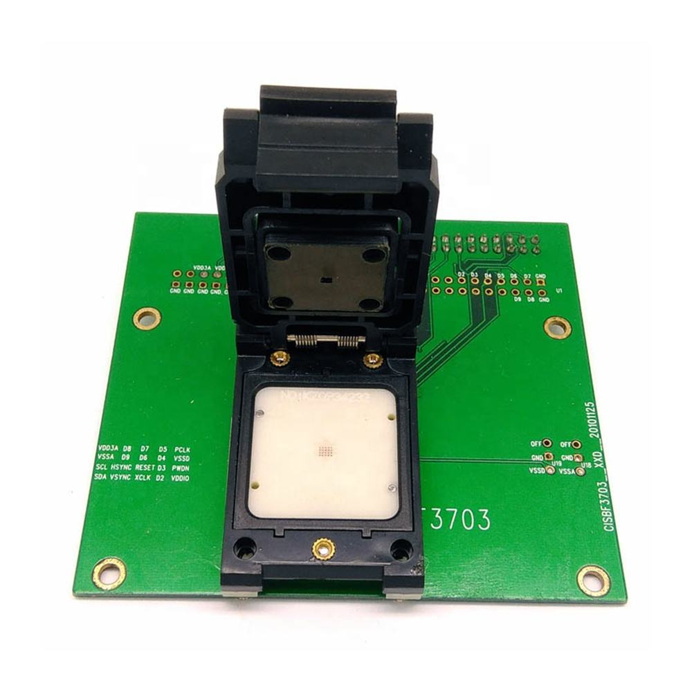 Taidacent Communicatie Interface BF3703-P Camera Chip Test Socket Unit Test Armatuur Vergulde Sonde Flip Cover Ic Chip Socket
