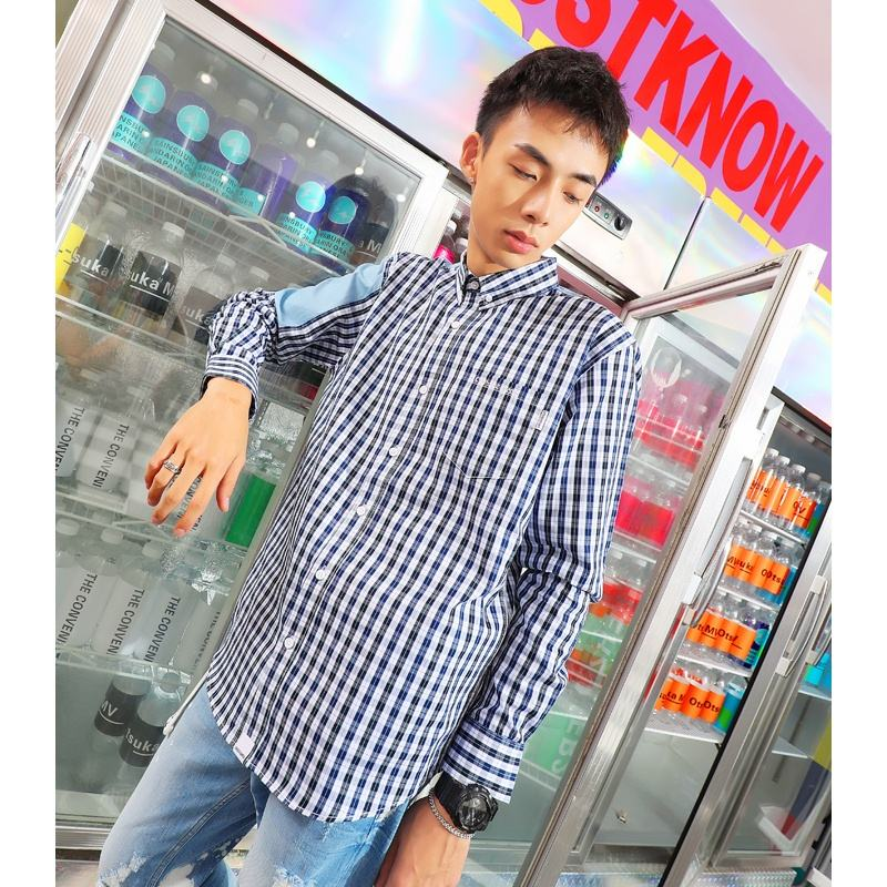 2019 Newest Factory Price Promotion Brand Designer company uniform CVC Panelled Shirt Stripes full sleeve shirt for men