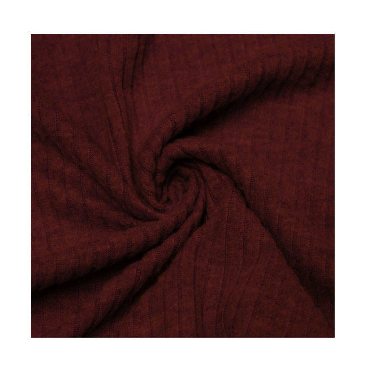 Unique Design High Quality Wholesale 90% Polyester 10% Rayon Brushed Rib Knit Fabric at Best Price