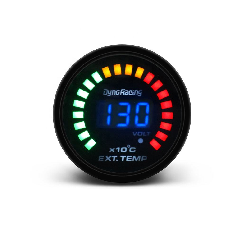 "2"" 52MM Digital 20 LED EGT Exhaust Gas Temp Meter Auto Car Styling EGT Temperature Gauge"