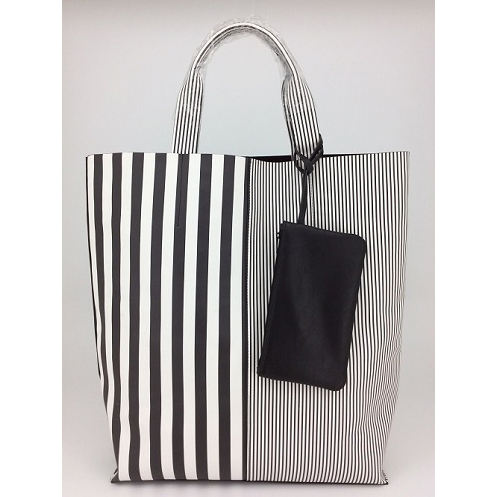 2021 Fashion Tassen Voor Vrouwen Monochrome Strip Print Over Size Shopper