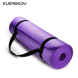 Has Carrying Strap Exercise Light Weight Yoga Mat Eco Friendly TPE NBR PVC Black Green Orange OEM Color Material Origin