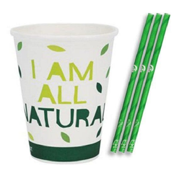 Printing Pattern and Logo on Paper Cup with Straw machine Use on Hotel and Ice Cream Paper Cup made in Vietnam