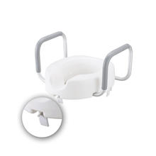 Elevated toilet seat with Armrest for Patient and Elder, Detachable Raised Toilet Seat