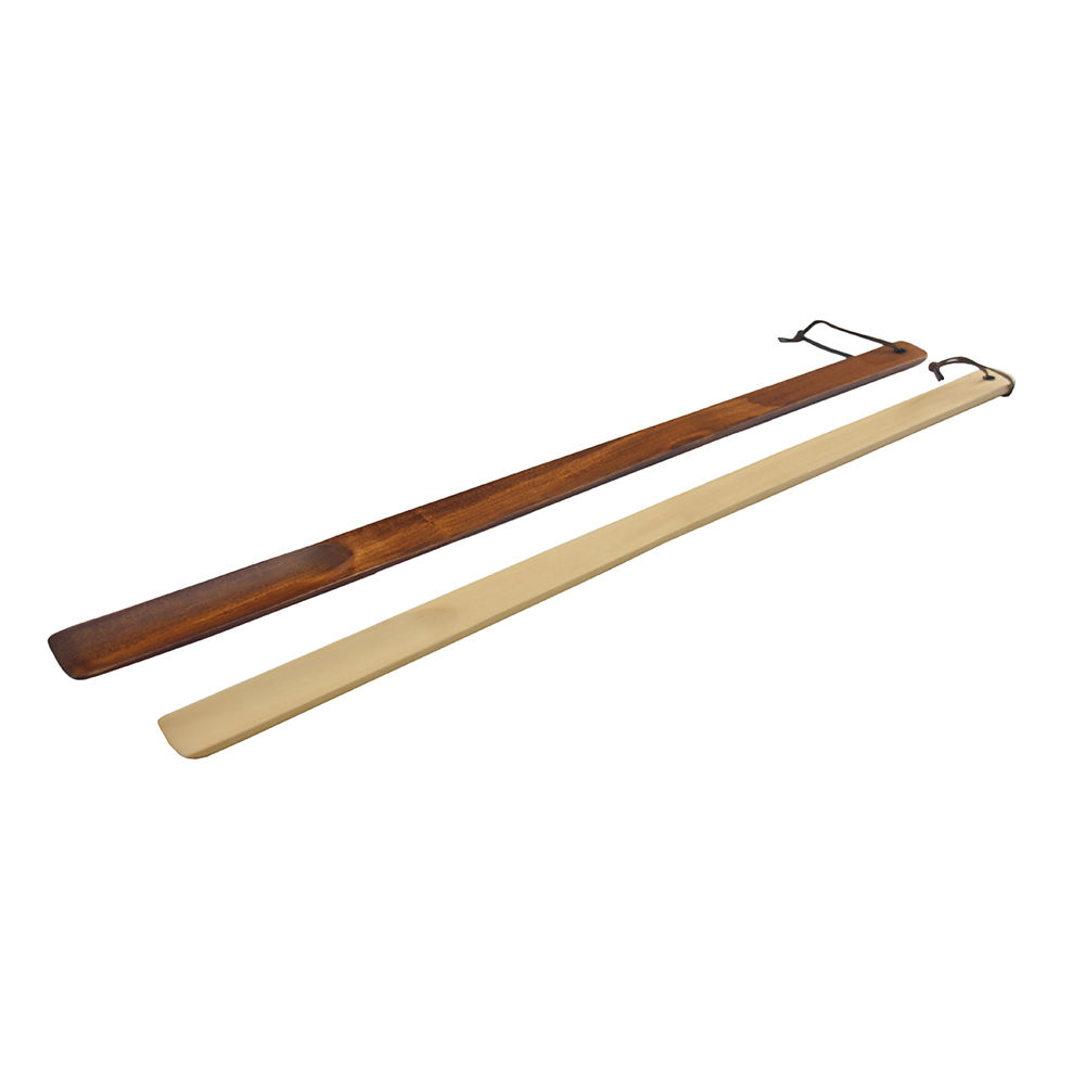 Hotel custom long handled wooden shoe horn wholesale