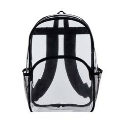 Best Quality Clear Pvc Backpack Padded Back & Padded Adjustable Straps For Comfort Backpack 2 Side Mesh Pockets