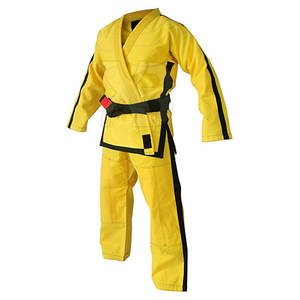 2020 Unisex Jiu Jitsu Gi Uniforms Martial Arts Uniform Bjj Gi Suits Lightweight Jiu Jitsu Uniform In Yellow Color
