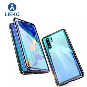 360 magnetic adsorption phone case for huawei p30 pro magnetic cellphone case double glass