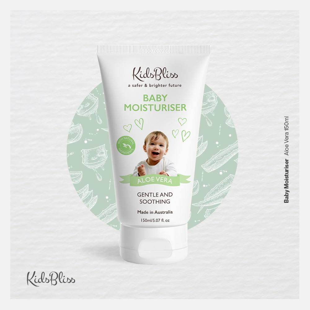 Kidsbliss Baby Moisturizer Aloe Vera 150ml - Natural Ingredients Made in Australia