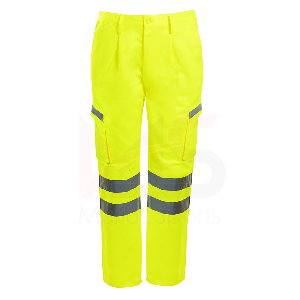 High visibility safety uniform waterproof work wear pants for men