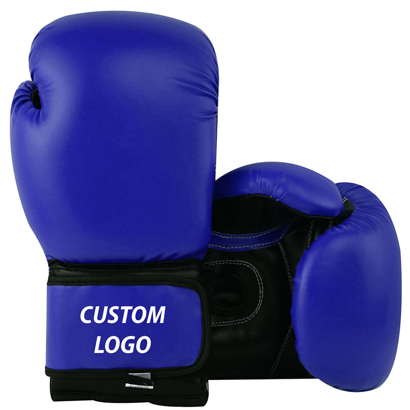 PU Leather Boxing Gloves, New Special Blue Brown Custom Color Martial Arts Sport Muay Thai Boxing Gloves