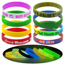 Custom Rubber Wristbands, Cheap Silicone Bracelets,  Personalized Wrist Bands With a Message
